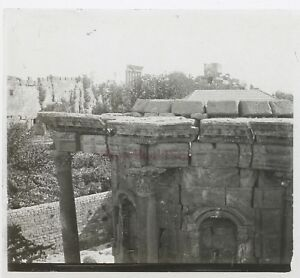 Baalbek Libano Foto Stereo Th1n12 Placca Da Lente Vintage c1920