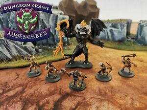 24 Cave Goblins and 1 Fire Demon - Miniatures for D&D Encounter
