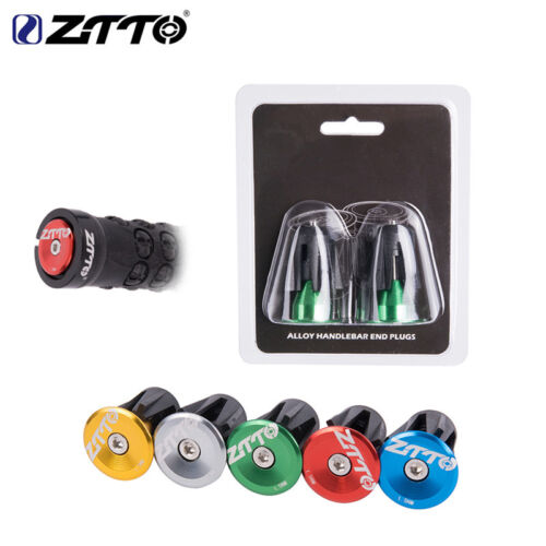 ZTTO MTB Road Bike Handlebar End Plugs Handlebar Caps Aluminum Handle Bar End
