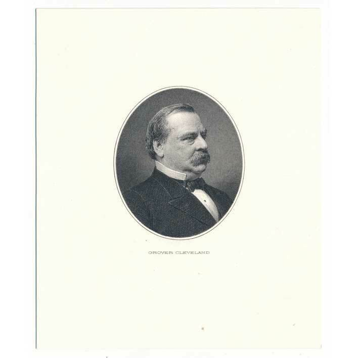 Grover Cleveland Engraving card BEP by John Eissler