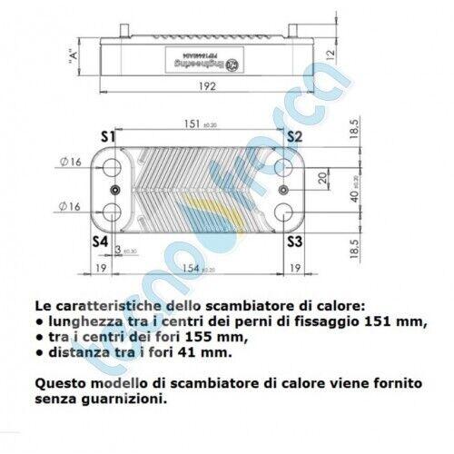 SCAMBIATORE 14 PIASTRE IMMERGAS VICTRIX MINI 243.021692 COMPATIBILE