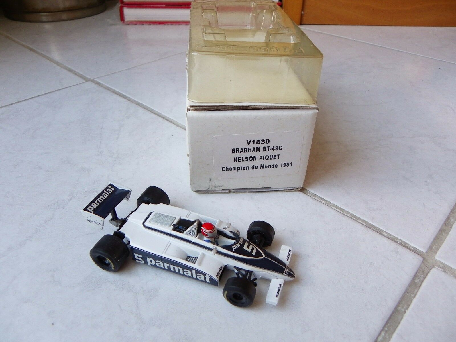Brabham Ford BT49C BT-49C Nelson Piquet Quartzo 1 43 1981 F1 World Champion