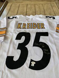 Dan Kreider Autographed/Signed Jersey JSA Sticker Pittsburgh Steelers