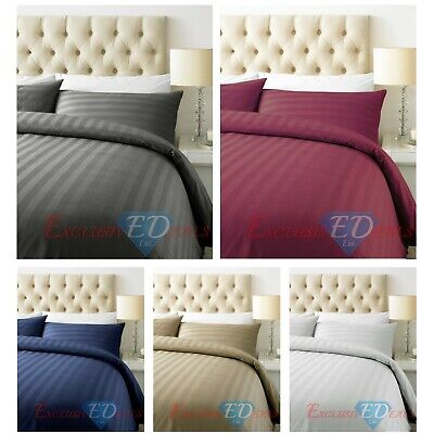 Navy Blue Stripe Bedding Item 100/% Cotton Soft /& Smooth 800 Thread Count US size