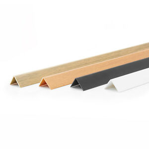 2m Winkelleisten PVC 20x20mm Buche Kunststoffwinkelprofil Winkelprofil Profil