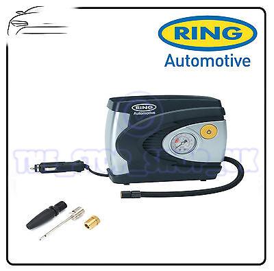 Ring 12v Car Tyre Analogue Gauge Air Compressor Inflator Electric Pump 85w model