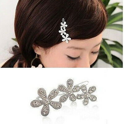 1Pcs Fashion Women Ladies Sweet Crystal Plum Flower Hair Clip Hairpin Jewellery