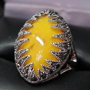 3-5-Ct-Marquise-Yellow-Citrine-Ring-Women-Wedding-Jewelry-14K-White-Gold-Plated