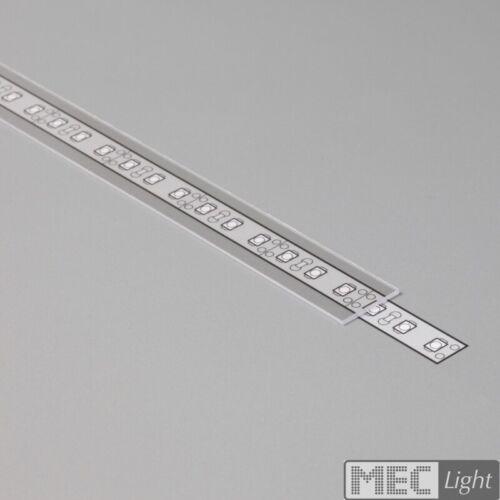 """Schiene /""""UNI-12/"""" Led Streifen Leiste Abdeckung silber eloxiert ALU Profil"""