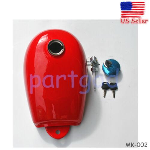 RED FUEL TANK CAP W// PETCOCK FOR HONDA MINI TRAIL Z50 Z50A Z50J Z50R 50CC FR US