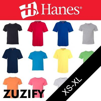 5380 Hanes Youth Short Sleeve Beefy Tee Jersey Shirt T-Shirt 22 COLORS-New!