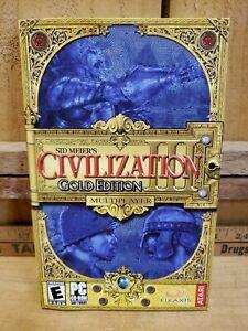 Sid Meiers Civilization III 3 Gold Edition PC 2003 ATARI Interactive MANUAL ONLY