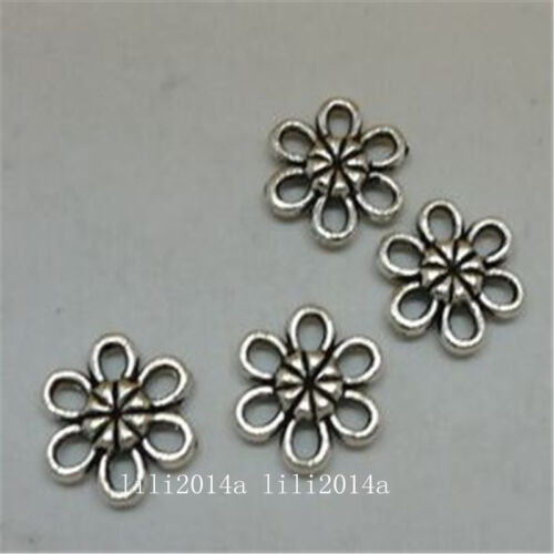30pc Tibetan Silver Charms Flowers Pendant Jewellery Accessories Wholesale PL869