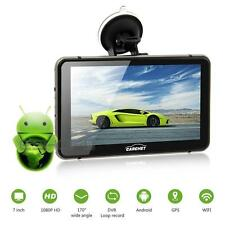 7 Inch Android 4.4 8GB GPS 1080P HD DVR with Dash Cam Touchscreen FM Transmitter