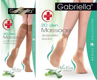 Massage High-Knee anti-pressure band Aloe Vera 20 Denier Medica Gabriella