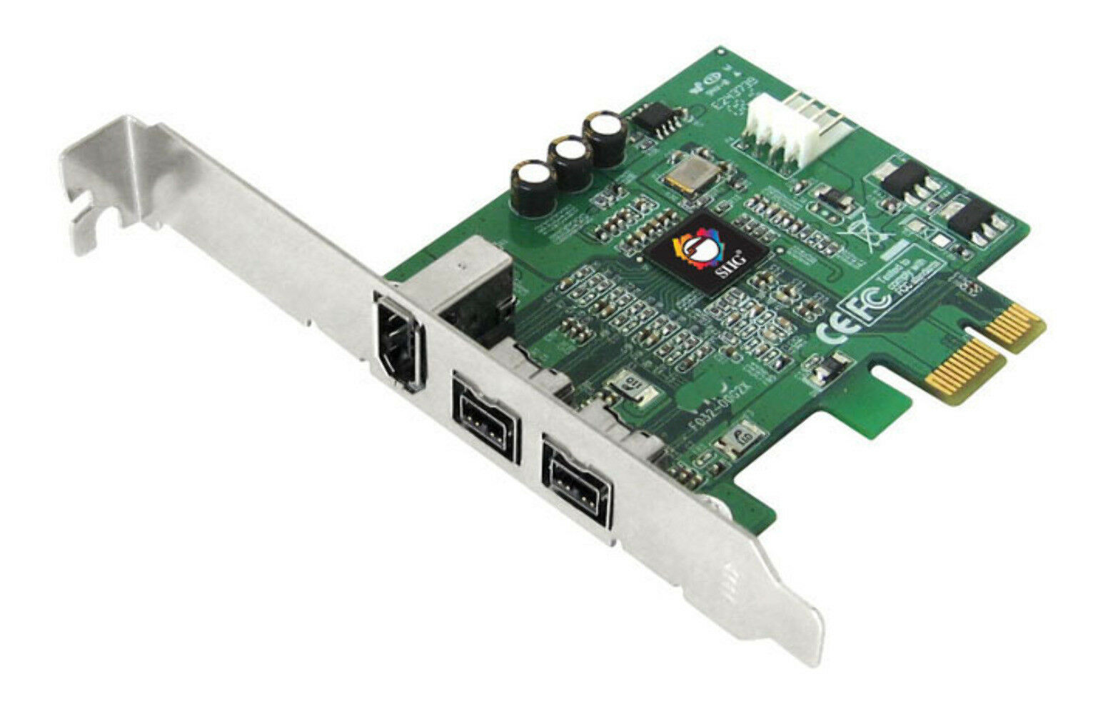 SIIG FireWire 800 3-Port PCIe x1 Card Adapter, Brackets Included (NN-E38012-S3)