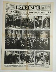N731-La-Une-Du-Journal-Excelsior-29-juin-1919-la-signature-du-traite-Versailles