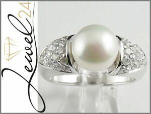 SARAH-KERN-Cocktail-Ring-echt-Silber-925-Sterling-rhodiniert-Zirkonia-und-Perle