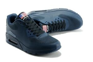buy popular 1b769 06137 Image is loading Nike-Air-MAX-90-Hyperfuse-Navy-Blue-Independence-
