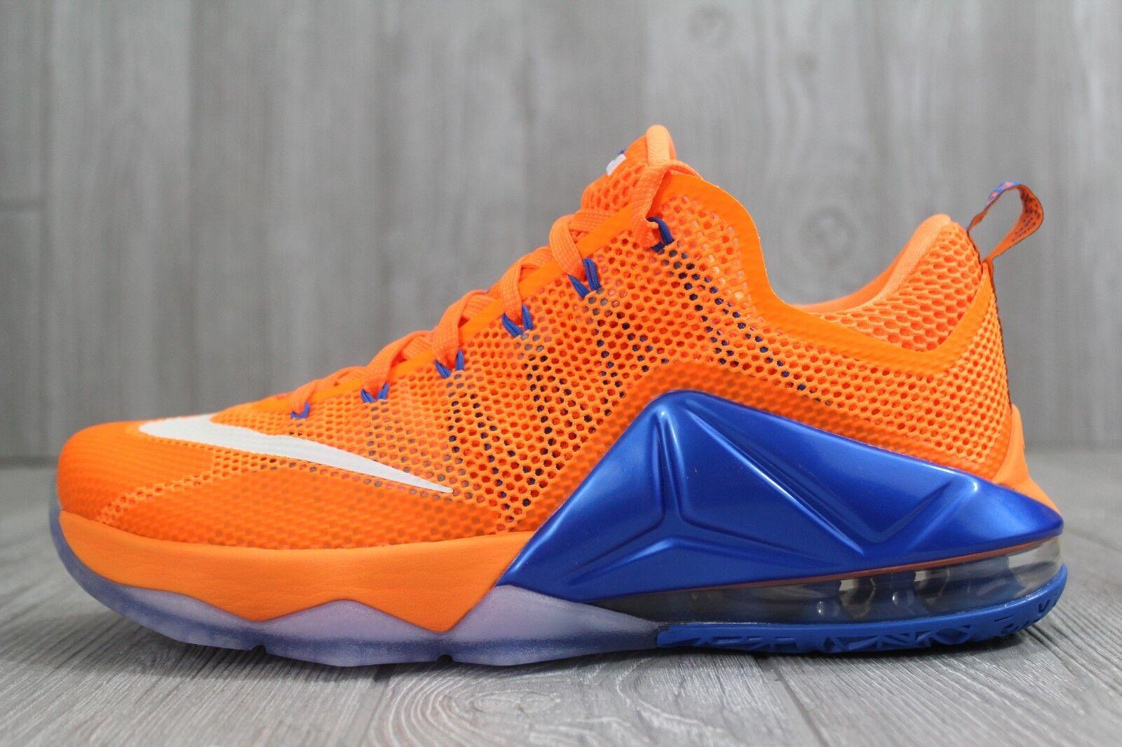 32 Nike Lebron XII 12 Low Citrus Knicks Basketball shoes Size 9.5 724557 838