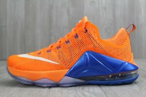 innovative design ff4b9 0a16f Image is loading 32-Nike-Lebron-XII-12-Low-Citrus-Knicks-