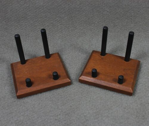 2 AMERICAN BLACK CHERRY MINERAL DISPLAY STANDS FOR A MUSEUM QUALITY DISPLAY!