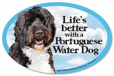 """Life/'s better with a Great Pyrenees 6/"""" x 4/"""" Oval Magnet Made in the USA"""