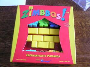 2004-Blue-Orange-Games-ZIMBBOS-Elephantastic-Wood-Pyramids-1-4-Players-Ages-3