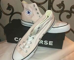 Converse-Chuck-Taylor-All-Star-Barely-Rose-Womens-12-Mens-10-Canvas-High-tops