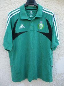 Détails sur Polo A.S SAINT ETIENNE vert ADIDAS ASSE coton shirt 192 XXL
