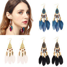 Colorful Bohemian Feather Dangle Drop Earring Gifts for Women Girls Jewelry000001000130