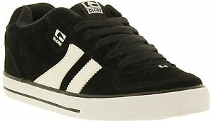 Globe-Encore-2-Black-White-Suede-Mens-Skate-Trainers-Shoes-Boots
