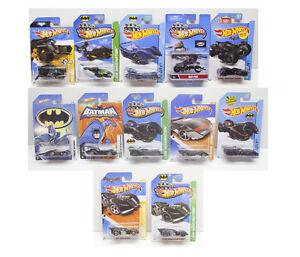 Batman Hot Wheels Batmobile carded lot of 12