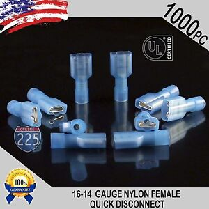 16-14 GAUGE 400 PCS COMBO MALE//FEMALE NYLON FULLY INSULATED DISCONNECT .250 CONN