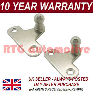 PAIR-GAS-STRUT-END-FITTINGS-10MM-BALL-PIN-BRACKET-SILVER-MULTI-FIT-GSF7
