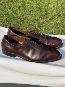 Mens-Vintage-ALLEN-EDMONDS-Belgium-Merlot-Leather-Oxfords-US-14