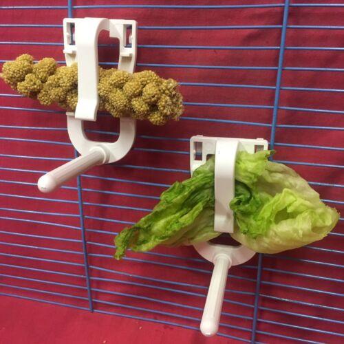Nice 2 Cuttlefish Universal Clip Perch Holder Only Millet Veg Budgie Canary Cockatiel Pet Supplies Bird Supplies