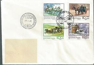 1977 Hungary FDC Stagecoach Issue