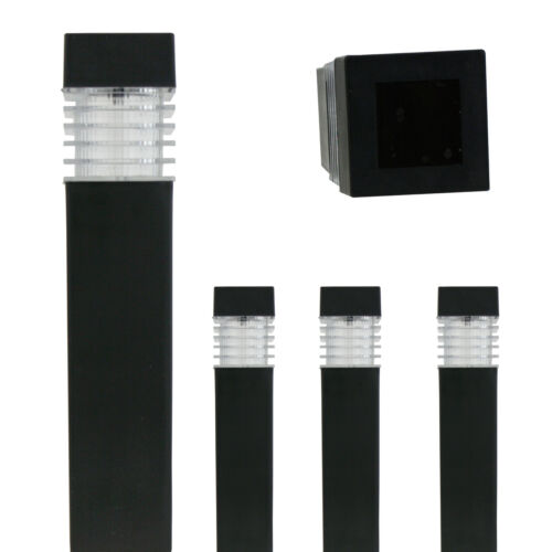 4 x Solarlampe Optik Gartenlampe Außenlampe Solarleuchte Solarlicht Solar