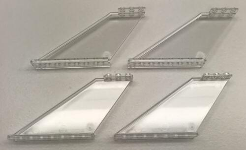 87614 Clear Transparent large airplane 4 New Lego Trans-Clear Tails 12x2x5 Lot