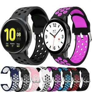 For Various Samsung SmartWatch Silicone Sports Band Strap Breathable