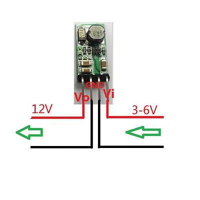 DC-DC Boost Module Converter 3V 3.3V 3.7V 5V to 12v 1200mA Step-up Power Supply