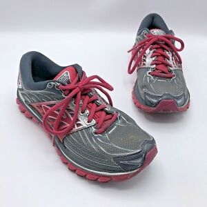 Brooks-Glycerin-14-Women-Gray-Pink-Running-Shoe-Size-7-EUR-38-Pre-Owned