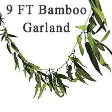 Bamboo Leaf Vine Garland 9 Luau Safari Jungle Party Birthday 9ft Long Decor