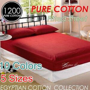 Image Is Loading 1200 Hotel Quality Egyptian Cotton Single Double Queen