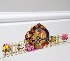 Fairy Door and Fence Wall Skirting Board Sticker Decal