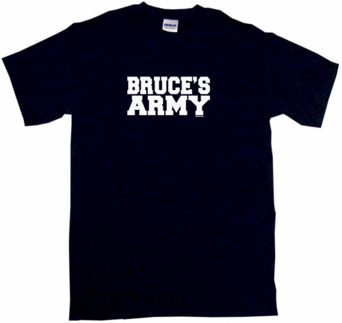 Bruce/'s Army Mens Tee Shirt Pick Size Color Small-6XL