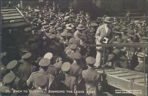 Postcard WW1 Back To Blighty Boarding The leave boat  Daily Mail pictures No 71 - Rossendale, United Kingdom - Postcard WW1 Back To Blighty Boarding The leave boat  Daily Mail pictures No 71 - Rossendale, United Kingdom