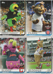 2019 TOPPS OPENING DAY BASEBALL MASCOTS INSERTS *PICK YOUR CARD*