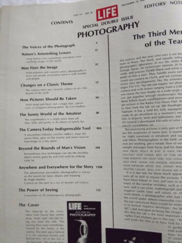 2 LIFE Magazine December 23 1966~Double Issue~The Voices of Photography~ Ads